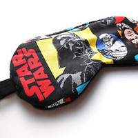 Sleep Mask Star Wars Eye Travel Darth Vader Night Fleece Nap Shade Blindfold NEW