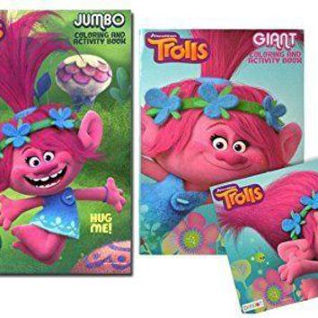 Dreamworks Trolls 11x16 Giant Coloring & Activity Book- 2 Pack