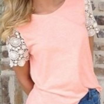 Pink Cut Out T-Shirt