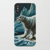Arctic Polar Bears iPhone Case by digitaleffects