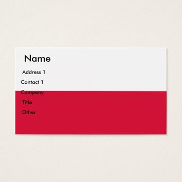 Business Card with Flag of Poland