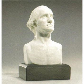 6-inch High George Washington Bust Statue Sculpture in White