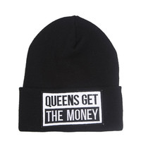 Beanie - Get The Money - Snapbacks & Beanies - Women - Modekungen - Fashion Online | Clothing, Shoes & Accessories
