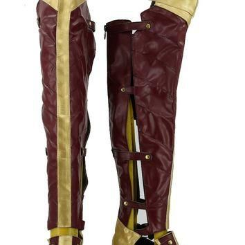 Batman v Superman:Dawn of Justice Superman Wonder Women Boot Halloween Cosplay Costume