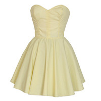 Pastel Yellow Party Dress | Style Icon`s Closet