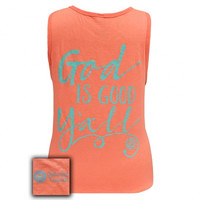 Girlie Girl Southern Originals God is Good Y'all! Comfort Colors Tank Top