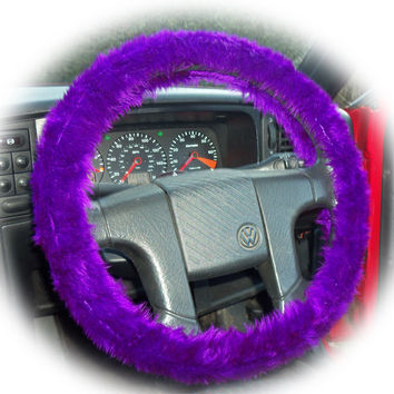 Gorgeous faux fur Purple fuzzy car steering wheel cover furry fluffy car accessories