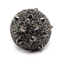 Pree Brulee - Razzle Dazzle Spiked Ring - Hematite