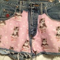 High Waisted Kalifornia Kitties Shorts size by KaliforniaClothing