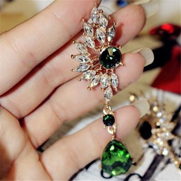 Stylish Accessory Gemstone Pendant Earrings [120171528212]