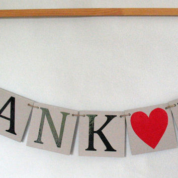 THANK YOU Banners Wedding Date Signs Sweetheart Table Banner Rustic Chic Wedding Decor Bridal shower