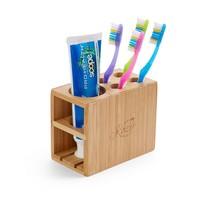 Bamboo Toothbrush and Toothpaste Holder