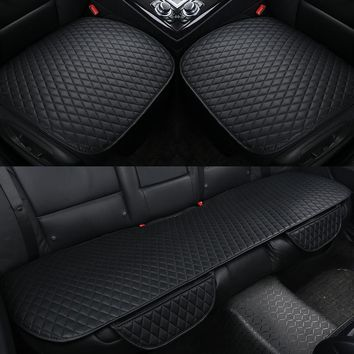Leather Cushion Front Back Car Seat Covers