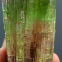 WOW 348 GRAMS BAEAUTIFUL TRI-COLORS TOURMALINE CRYSTAL @ PAPROOK AFGHAN