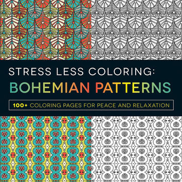 Stress Less Coloring Bohemian Patterns Softcover Adult Coloring Book