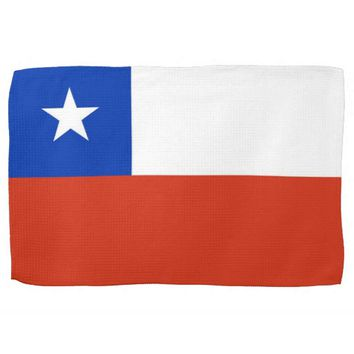 Kitchen towel with Flag of Chile