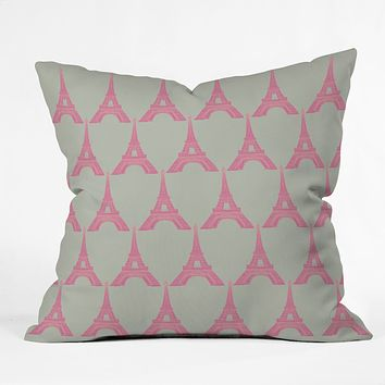 Bianca Green Oui Oui Throw Pillow