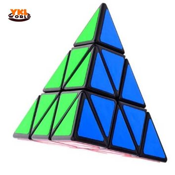 YKLWorld Hot Professional Triangle Pyramid Pyraminx Magic Cubes Sticker Speed Puzzle Twist Cube Educational Toys for Kids-50