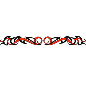 TRIBAL RED and BLACK Arm Band Temporary Tattoo 1.5x9