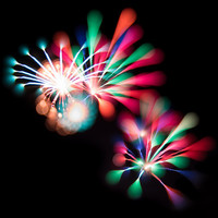 Colourful Explosions (Fireworks) Art Print by BluFyre Productions