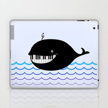 whale  (water proof piano!) Laptop & iPad Skin by Bananabread