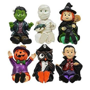 Glittery Dangle Leg Halloween Characters (Set of 6)