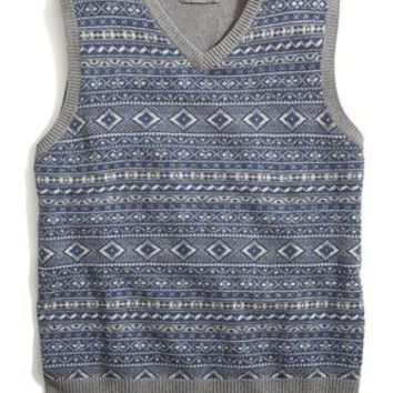 Dockers Holiday Fair Isle Vest - Blue Heather - Men's