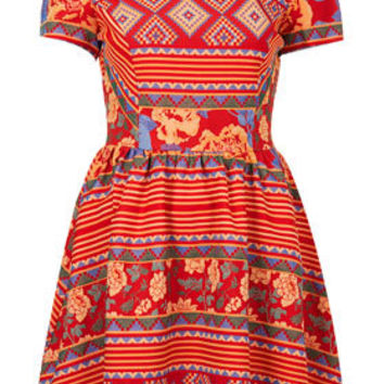 Aztec Jaquard Flippy Dress - Dresses  - Clothing