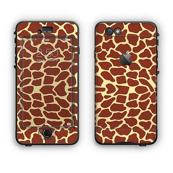 The Simple Vector Giraffe Print Apple iPhone 6 Plus LifeProof Nuud Case Skin Set