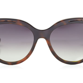 Jimmy Choo - Nicky Havana Brown and Animal Print Round Framed Sunglasses
