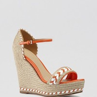 Gucci Espadrille Wedge Sandals - Tiffany Woven