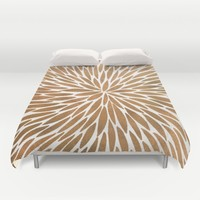 Rose Gold Burst Duvet Cover by Cat Coquillette