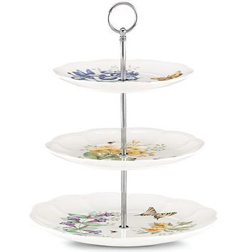 Butterfly Meadow® Bouquet 3-tiered Server by Lenox