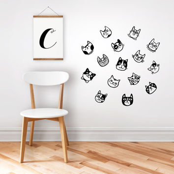Wall decal cats / home decor / nursery decor / removable sticker