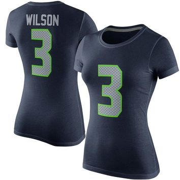 VZ VARE ZANE Official Free Shipping American Football T Shirt Seattle Russell Wilson T Shirt Seahawks T Shirts Women Color Rush