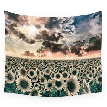 Society6 Sunflowers Wall Tapestry