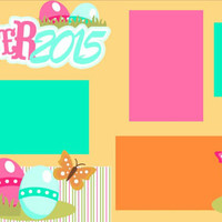 Scrapbook Page Kit or Premade Layout 12X12 2-Page Easter 2015 Girl