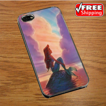Ariel The Little Mermaid On Tiffany Blue iPhone 4|4S Cover Case