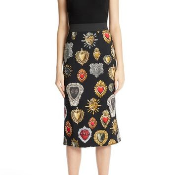 Dolce&Gabbana Sacred Heart Cady Pencil Skirt | Nordstrom