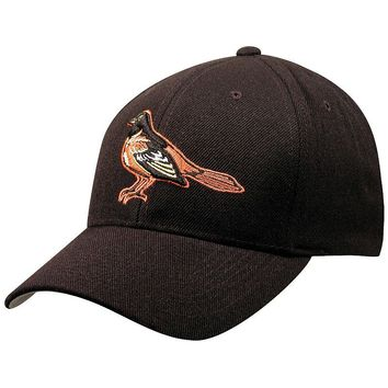 Baltimore Orioles Wool Replica Baseball Cap, Size: One Size (Black)
