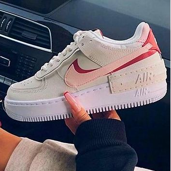 Nike Air Force 1 AF1 Low-Top Joker Flat Sneakers Shoes Color Add to edge Grey purple