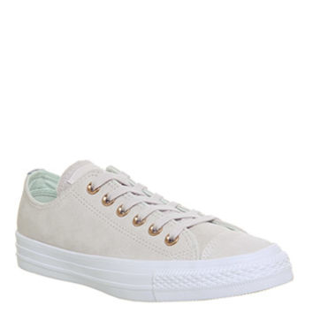 Converse Allstar Low Leather Pale Quartz Glacier Grey White - Hers trainers