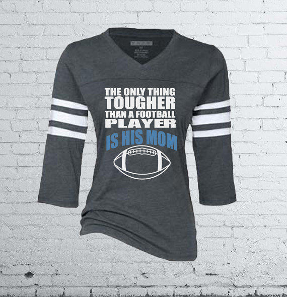 Football Mom Jersey Style T Shirt From Mad Jo Apparel