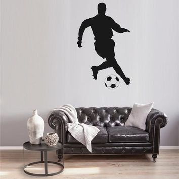 ik1933 Wall Decal soccer football ball sport man living bedroom