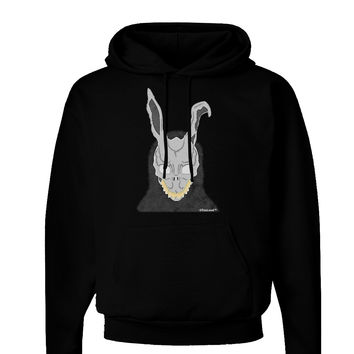 Scary Buny Face Watercolor Dark Hoodie Sweatshirt