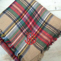 Blanket Scarf with Monogram