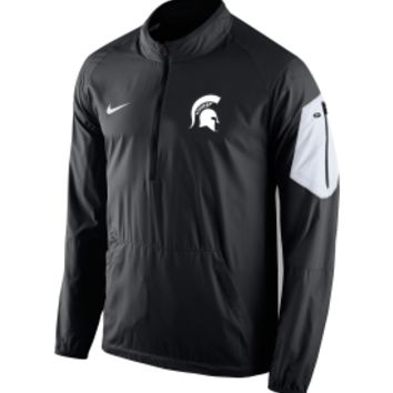 Nike Men's Michigan State Spartans Black Lockdown Half-Zip Jacket | DICK'S Sporting Goods