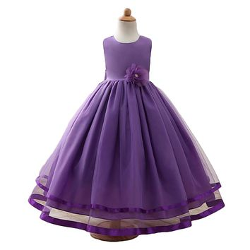 Kids Dresses For Girls Flower Girl Dresses Birthday Kid Clothes Princess Long Children's Dress Costume Wedding Pageant Ball Gown