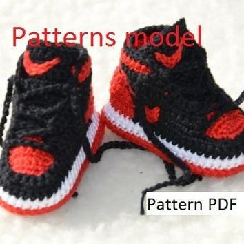 CROCHET PATTERN -Nike Air Jordan 1 Crochet Baby Booties pattern