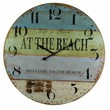 Wooden At The Beach Wall Clock 23""
